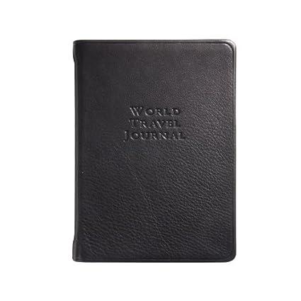 Amazon.com: World – Diario de viaje, piel de novilla ...