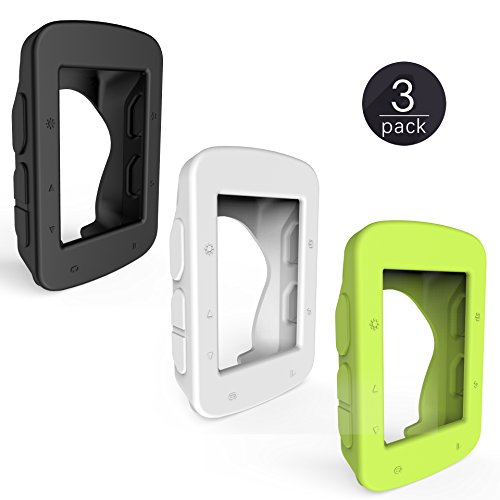 TUSITA [3-PACK] Silicone Case + Screen Protector for GarminEdge520/Edge 520 Plus/Edge 820 GPS Bike Computer - Edge Silicone