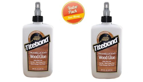 Franklin International 6123 Wood Glue, Translucent, 8-oz, 2 Pack