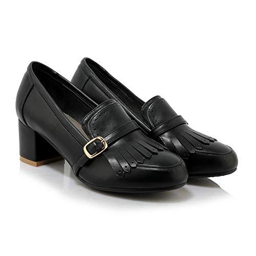 Compensées AdeeSu 5 SDC05884 Femme Sandales EU Noir 36 Noir PPHEawrq