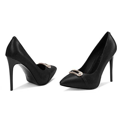 Party Talons Sexy Court Hauts Chaussures Black Noir 5 4 Travail 11cm Plateforme Chaussures Nightclubwedding Femmes EU 37 Strass étanche UK Mode Discothèque Femme 5cxfZnWw6f
