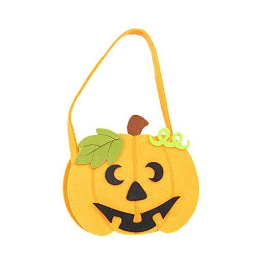 Amosfun Halloween Candy Bag Cartoon Pumpkin Bag Portable Kids Handbag for Festival Halloween -