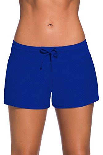 Happy Sailed Women Swimsuit Tankini Bottom Board Shorts, X-Large Blue