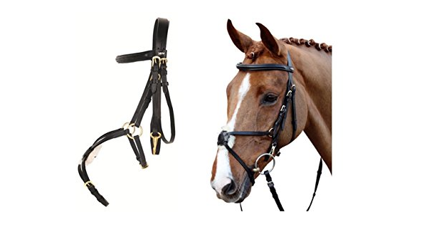 GERMAN LEATHER MEXICAN GRACKLE BRIDLE  WITH REINS BLACK FULL