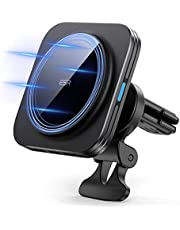 ESR HaloLock Magnetic Wireless Car Charger Compatible for iPhone 13 Series [Mag-Safe Car Charger] Air Vent Mount for iPhone 13/13 Pro/13 mini/13 Pro Max/12/12 Pro/12 Pro Max/12 Mini, Black