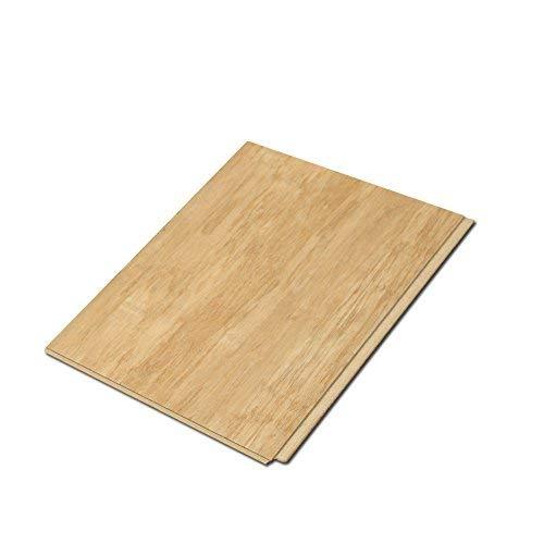 Natural Grain Bamboo Flooring - Cali Bamboo - Cali Vinyl Plus Cork-Backed Vinyl Floor, Extra Wide, Natural Wood Grain - Sample Size 5-3/4
