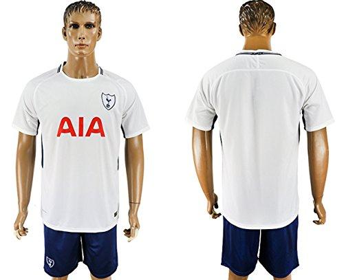 Mens Team Sport Home Colors Tottenham Hotspur Soccer Jersey and Shorts Fan Replica Uniform Soccer Kit- White (X-Large) Tottenham Short