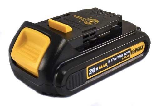 DEWALT DCB201 1.5-Ah 20-Volt Lithium-Ion Compact Battery (Max Lithium 20v Ion Battery)