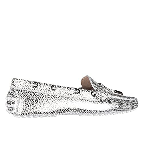 82cf5c65836 hot sale 2017 Tod s women s leather loafers moccasins heaven laccetto  occhielli silver
