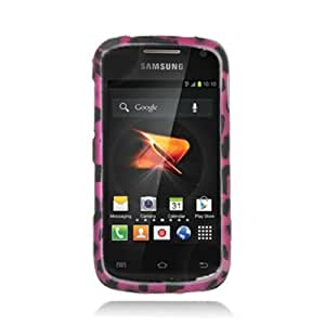 Aimo Wireless SAMR830PCLMT186 Durable Rubberized Image Case for Samsung Galaxy Axiom R830 - Retail Packaging - Hot Pink Leopard