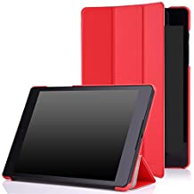 Google Nexus 9 Case - MoKo Ultra Slim Lightweight Smart-shell Stand Cover Case for Google Nexus 9 8.9 inch Volantis Flounder Android 5.0 Lollipop tablet by HTC, RED