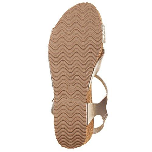 VialeScarpe Bav-68426sl_36 - Sandalias de vestir de piel sintética para mujer plateado plateado 36 plateado
