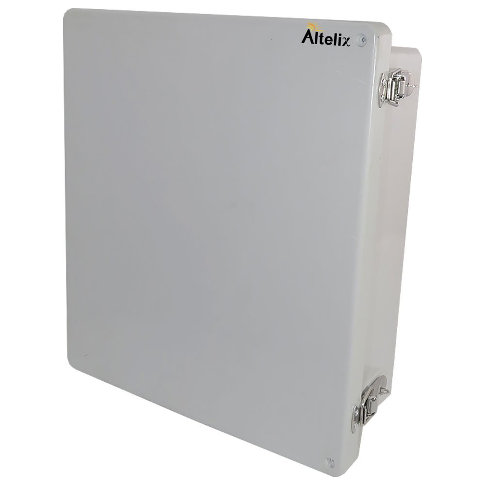 Altelix 14x12x6 NEMA 4x FRP Fiberglass Weatherproof Enclosure with Aluminum Equipment Mounting Plate, Hinged Lid & Stainless Steel Latches by Altelix (Image #2)