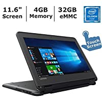 2017 Lenovo N23 11.6-inch Touchscreen 2-in-1 Business Laptop, Intel Celeron N3060, 4GB Memory, 32GB eMMC, Windows 10 Professional