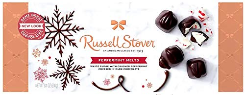 Russell Stover Dark Chocolate Peppermint Melts, 8.1 Ounce