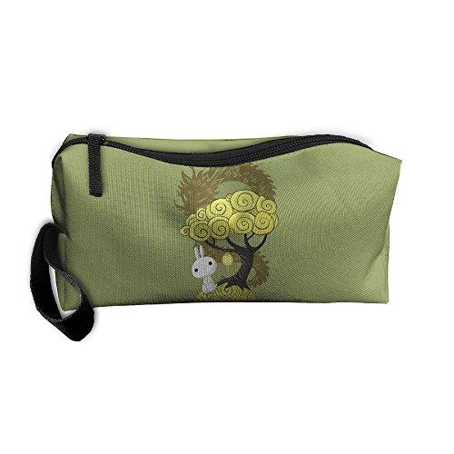 CXCcoco Bonsai Tree Women Makeup Bag Make Up Bag Pencil Case Box Makeup Bag (Cluster Gear Image)