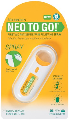 Neosporin Neo To Go! Antiseptic Pain Relieving Spray 0.26-Ounce  1-Count (Pack of 6)