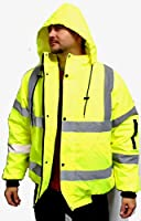X-Large Safety Reflective Jacket Bright Neon Yellow