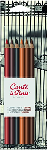 Conté à Paris Sketching Pencil - Sanguine (Pack of 6) ()