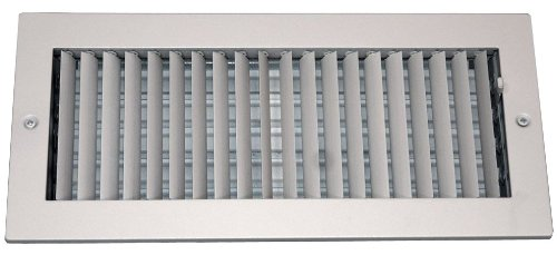 Speedi-Grille SG-410 ASD 4-Inch by 10-Inch Soft White Steel Ceiling or Wall Register with Adjustable Single Deflection Diffuser by Speedi-Grille