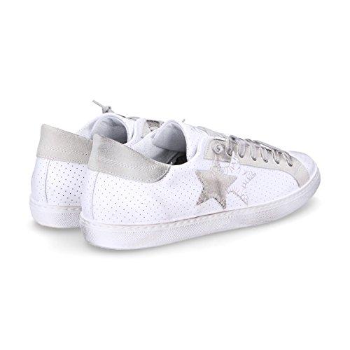 2 Star Sneaker Uomo Bianco IT - Marke Größe