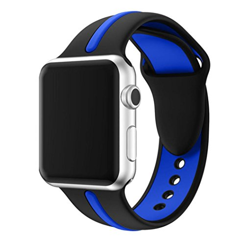 For Apple Watch Series 1/2, Sunfei New Fashion Sports Silicone Bracelet Strap Band (38MM, Blue)