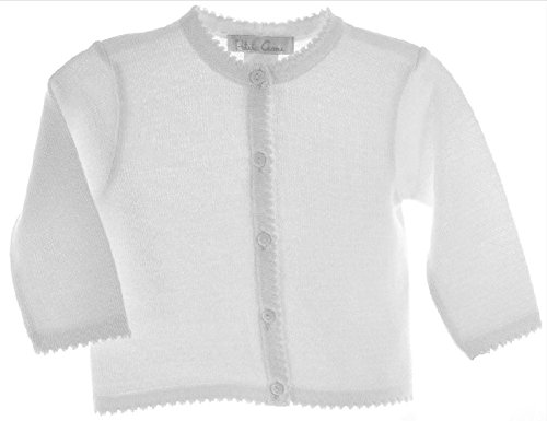 Petit Ami Girls Cardigan Sweater White Toddler & 4-6X (6X)