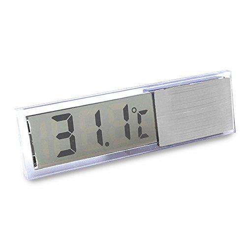 Gosear Termómetro Digital Acuario Electrónico de LCD Cristal / Medidor de Temperatura con Auto-Adhesivo y Sonda LED Temp...