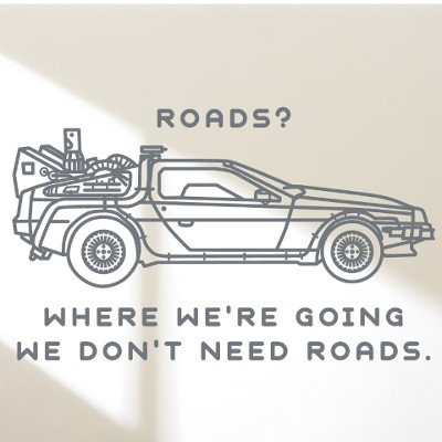 Hatcherabilia Back to the Future Delorean Time Machine inspired Emmett Brown Quote Wall Sticker