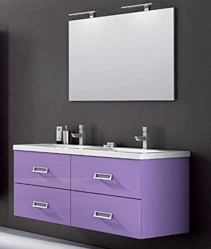 Mobile Arredo Bagno Line cm 140 in 25 colori anche bianco lavabo ...