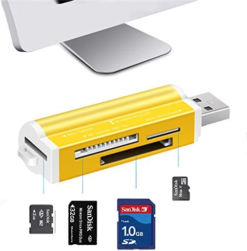 All In One b 2.0 Ms Duo Ms Pro Micro Sd Ms T-Flash High Speed Card Reader 1PCs Military Cac All One Card Reader For b 3 0 Mobile Phones /& Accessories