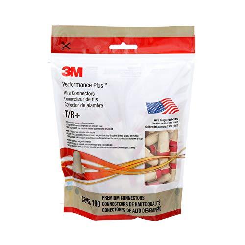 3M(TM) Performanc Plus(TM)  Wire Connector T/R+POUCH, 100 per Pouch