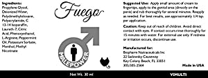 Fuego Male Enhancement and Duration Cream 2 Pack Provides A Larger and Longer Experience While Reducing Friction and Irritation of the Skin. L- Arginine Helps Improve Size and Vaginal Dryness