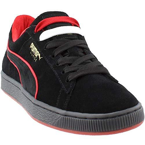 (Puma Men's Suede Classic X Fubu Black/High Risk Red Ankle-High Fashion Sneaker - 11M)
