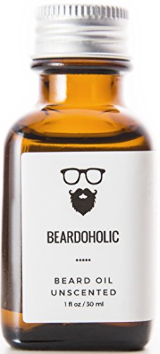 Beardoholic Premium Quality Beard Oil and Leave-in Conditioner, Softener – 100% Pure Organic Natural, Unscented – Beard Growth and Stops Itchiness – Jojoba and Argan Oil