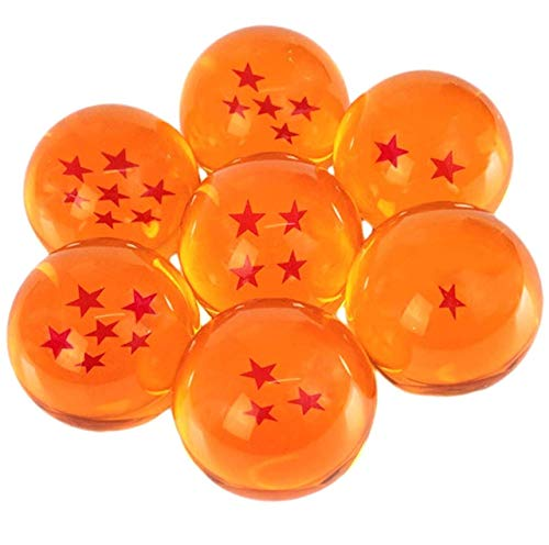 DragonBall New Z Stars Crystal Glass Ball 7pcs with Gift Box, Large 76MM in Diameter