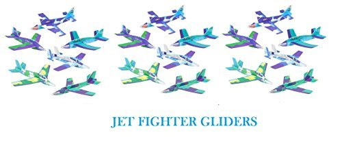 ((48) JET FIGHTER Foam GLIDERS ~ 8''~ Stocking Stuffers ~Summer Camps ~ PATRIOTIC ~ Santa Toy ~ Classroom Teacher Gifs ~ Holiday Fairs Festivals Party Favors ~ Planes Crafts TOYS)