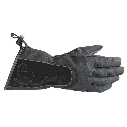 Alpinestars Stella Messenger Drystar Womens Gloves , Distinct Name: Black, Size: Md, Gender: Womens, Primary Color: Black, Apparel Material: Leather 3538711-10-M