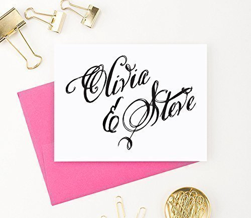 Amazon Com Personalized Wedding Thanks You Cards Personalized