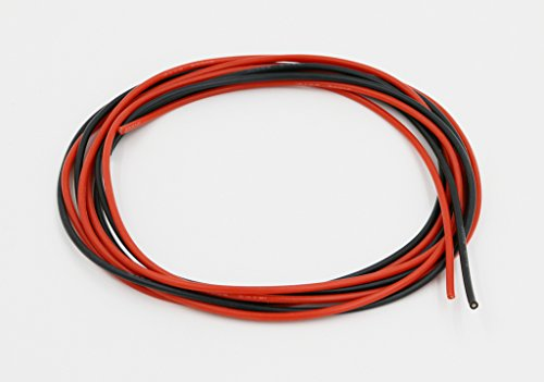 BNTECHGO 18 Gauge Silicone Wire Soft and Flexible 18 AWG Silicone Wire 150 Strands of copper wire 5 ft Black And 5 ft Red Super low electrical resistance for a highly efficient (Copper Connection)