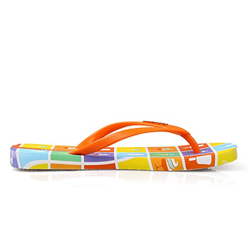 Chanclas Piscina Hotmarzz Naranja Mujer Sandalias para Flip Flops Ducha Verano Helado Playa Casa AHqdBwRH