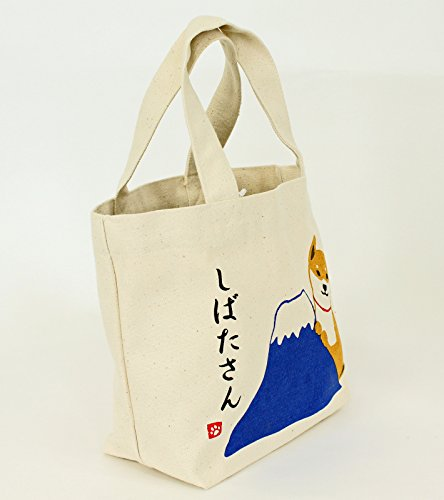 Japonés Bolsos totes/mini bolsa de mano / bolsillo interior / Shiba con el monte Fuji tipo NarumiKK Narumi