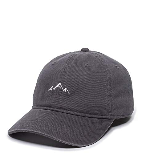 """Outdoor Cap Mountain Embroidered Dad Hat â€"""" Adjustable Soft Cotton Polo Style Unstructured Baseball Cap for Men & Women, Charcoal"""