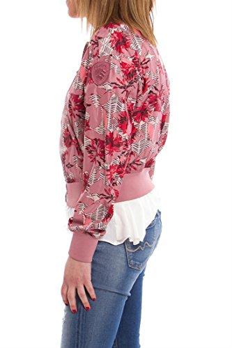 BOMBER CON FLORES TONOS ROSAS Multicolor