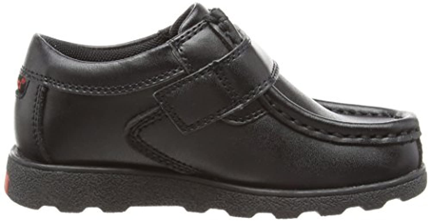 New Boys/Childrens Black Kickers Fragma Touch Fastening School Shoes. - Black - UK SIZE 7