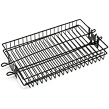 GrillPro 24785-1 Non-Stick Flat Spit Rotisserie Grill Basket
