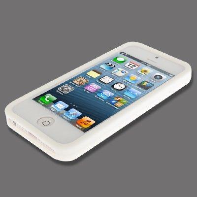 The Fly Shop Coque pour iPhone 55S et si/étui de protection en silicone souple blanche Impression Pneu à relief