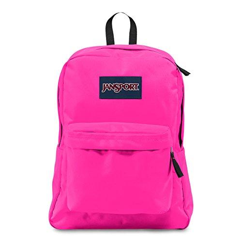 Front Flap Over Pocket (JanSport Superbreak Backpack - Ultra Pink - Classic, Ultralight)