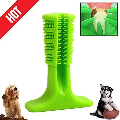 LYW-Ltd Dogs Toothbrush Brushing Stick Pets Doggy Molar Stick Oral Care Nontoxic Bite Resistant Rubber Chew Cleaning Dental Hygiene Brushes for Small Medium Large Dogs