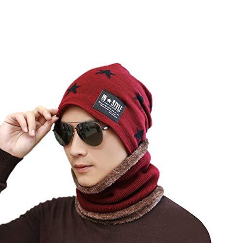 Rouge Bordeaux Unique Homme Bonnet Acvip Taille ZPfanIwnXx
